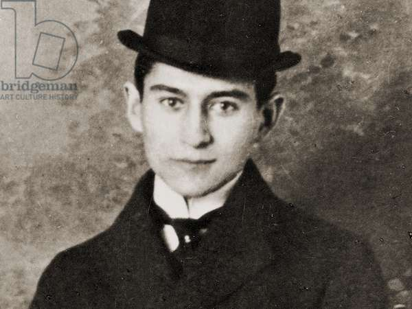 Portrait of Franz Kafka, 1910 (b/w photo)