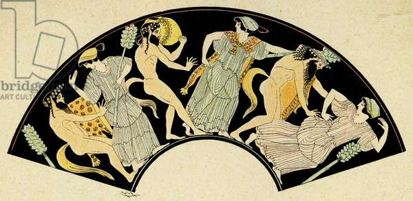 Orgy scene with Maenads among Satyrs, Illustration from Notor's Lysistrata,  1898 (litho)