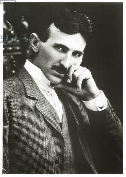 Portrait of Nikola Tesla aged 40, 1896 (photo)