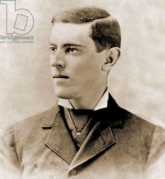 Portrait of Thomas Woodrow Wilson, 1878 (b/w photo)