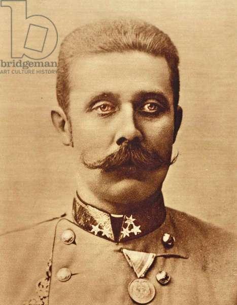 Portrait of Archduke Franz Ferdinand  c.1893 (b/w photo)