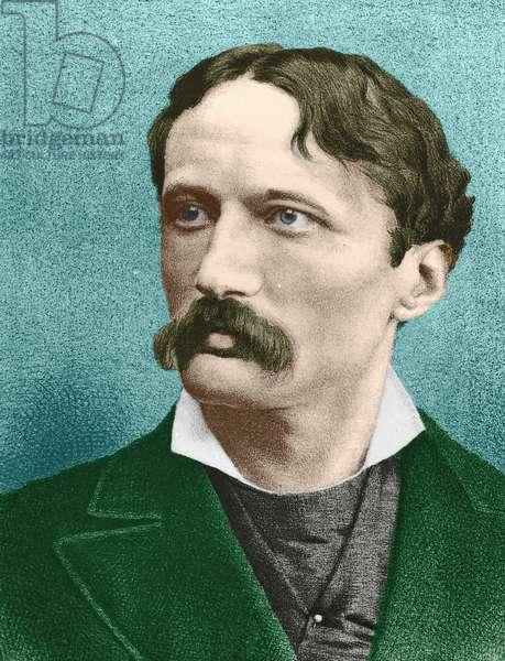 Portrait of Arrigo Boito (1842 – 1918) (coloured engraving)