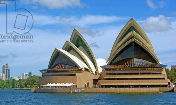 A view of the Sydney Opera House from the harbour, Sydney, New South Wales (photo)