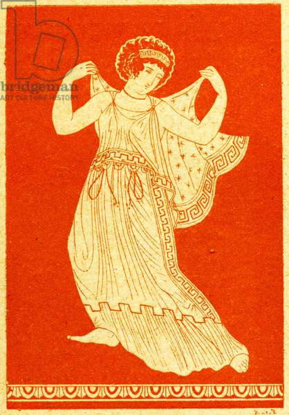 Calonice, Illustration from Notor's Lysistrata,  1898 (litho)