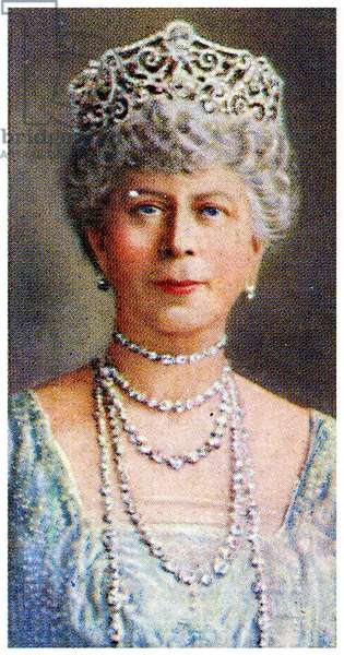 Portrait of H.M Queen Mary of Teck, 1935 (litho)