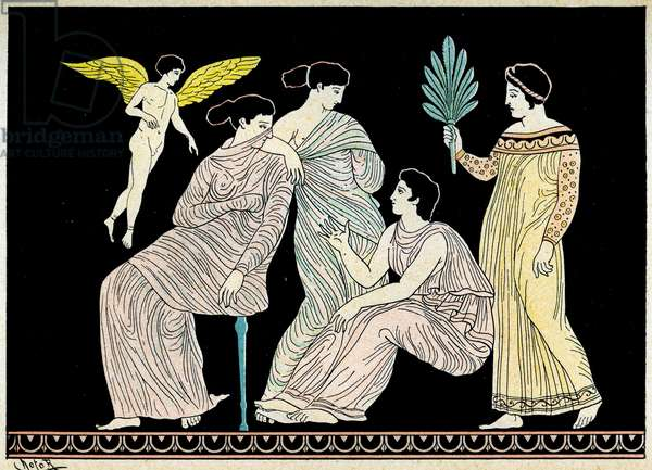 Group of women, Illustration from Notor's Lysistrata,  1898 (litho)