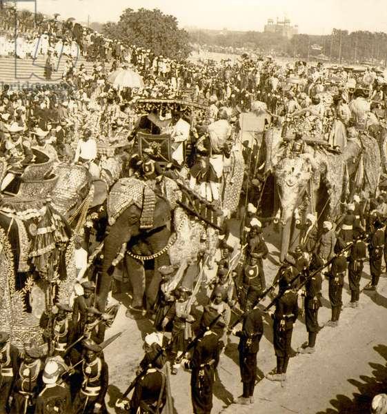 The Great Durbar procession, Delhi, India. 1903 (photo)