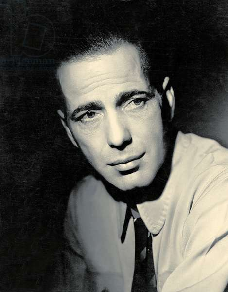 Portrait of Humphrey Bogart, 1939 (b/w photo)