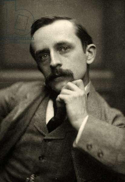 Portrait of J.M.Barrie, 1892 (Sepia Photo)