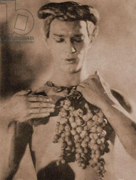 Vaslav Nijinsky, 1914 (b/w photo)