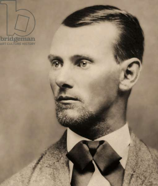 Portrait of the outlaw Jesse James (1847-1882), (Cabinet Photo)