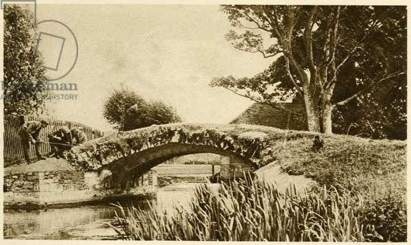 King Harold's Bridge,Waltham Abbey, Essex c.1926 (b/w photo)
