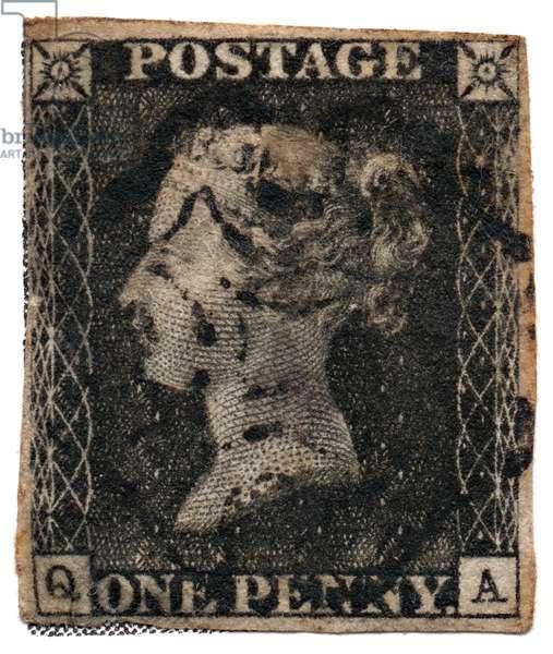 Penny Black c. 1840 (postage stamp)