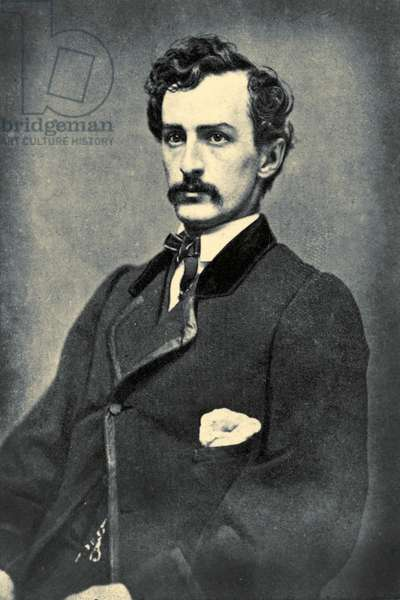 Portrait of John Wilkes Booth, c.1860 (b/w photo)