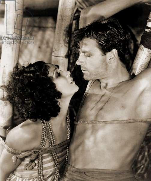 Dolores del Río and Joel McCrea filming