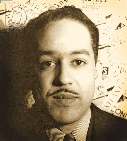 Langston Hughes, 1936 (b/w photo)