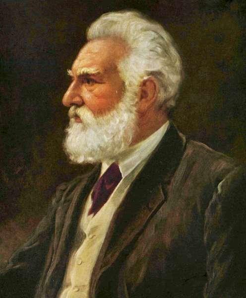 Portrait of Alexander Graham Bell, c.1920 (litho)