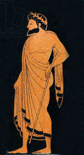 Portrait of a Herald, Illustration from Notor's Lysistrata,  1898 (litho)