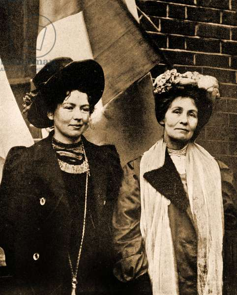 Christabel and Emmeline Pankhurst (photo)