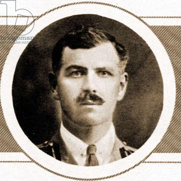 Portrait of Brigadier-General Noel Lee of the Manchester regiment, (Sepia Photo)