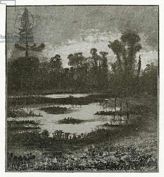 Les Chants du Crépuscule, 19th Century (b/w engraving)