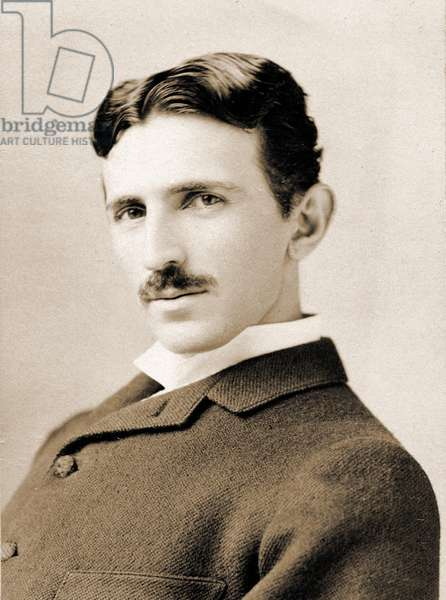 Portrait of Nikola Tesla, 1890 (photo)