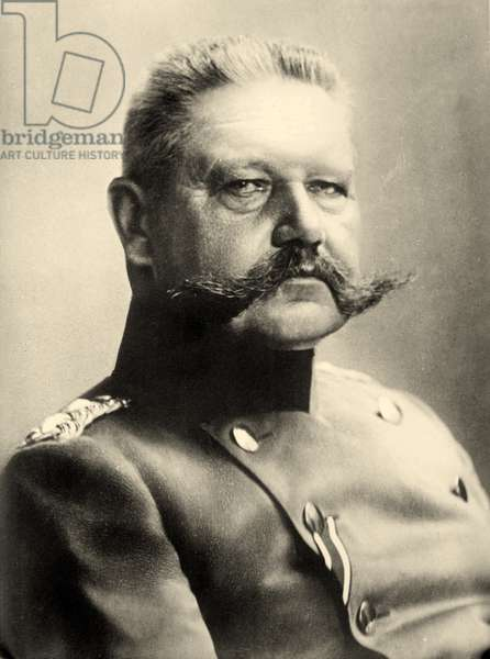 Portrait of Paul von Hindenburg  (b/w photo)