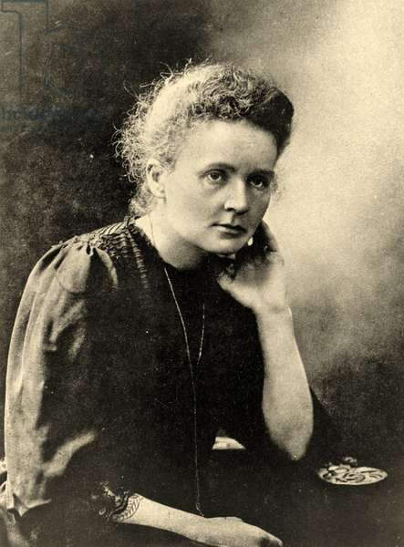Portrait of Marie Curie c.1901 (b/w photo)