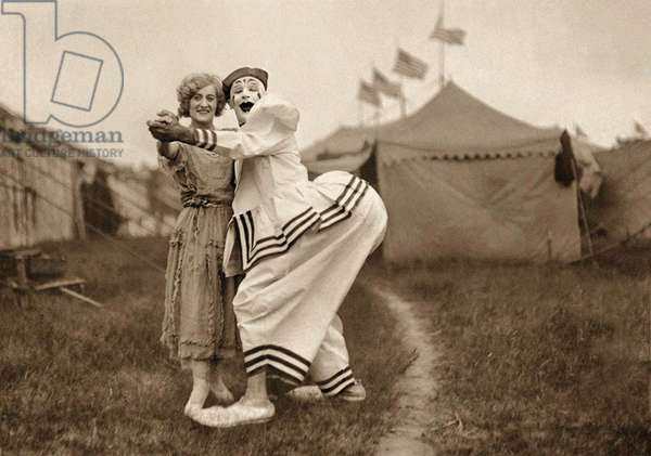 Florence and Pete Mardo, Sparks Circus, Akron, Ohio. 1923 (photo)