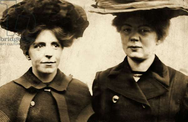 Annie Kenney and Christabel Pankhurst, c.1905 (photo)