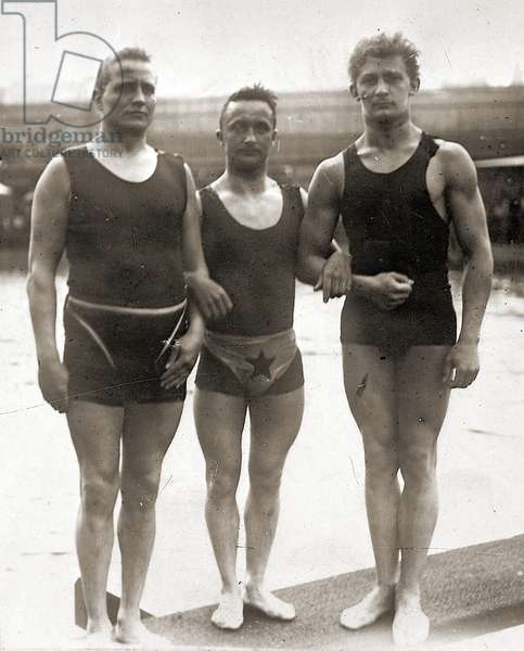 Olympic Swimmers at the Olympic Games in Berlin. 1936 (b/w photo)