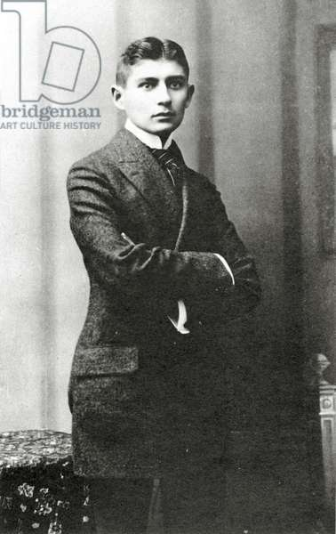 Portrait of Franz Kafka, (1883 – 1924) (b/w photo)