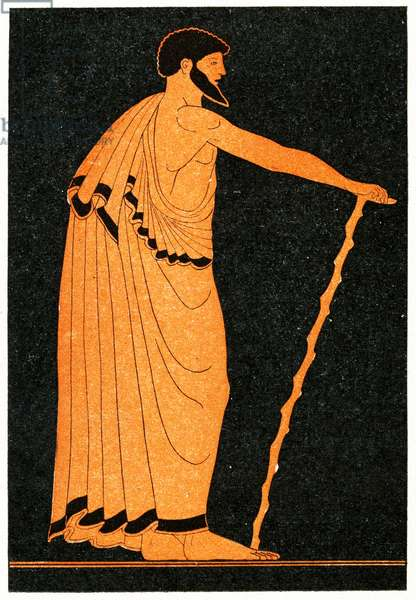 Portrait of a Proveditor, Illustration from Notor's Lysistrata,  1898 (litho)
