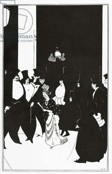 Lady Gold's Escort, illustration from 'The Yellow Book', 1894 (litho)