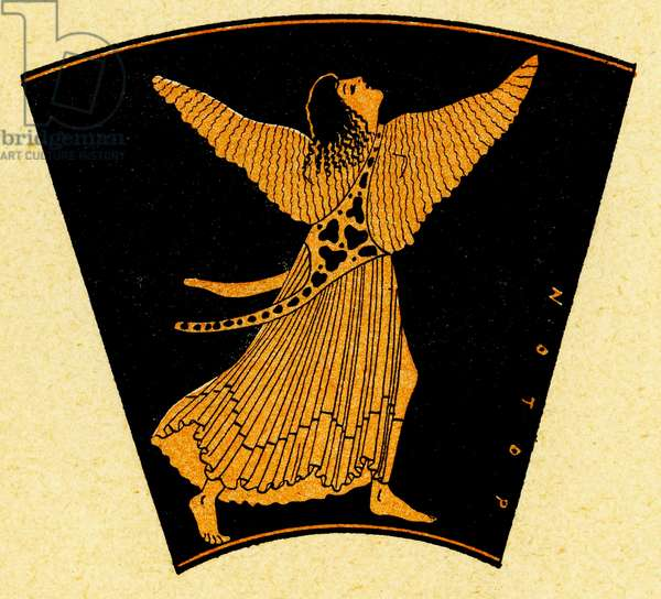 Fragment of Brygos Cup, Illustration from Notor's Lysistrata,  1898 (litho)