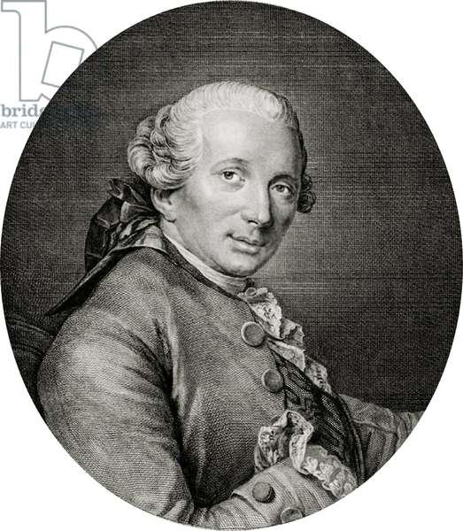 Portrait of Jacques-Germain Soufflot, (engraving)