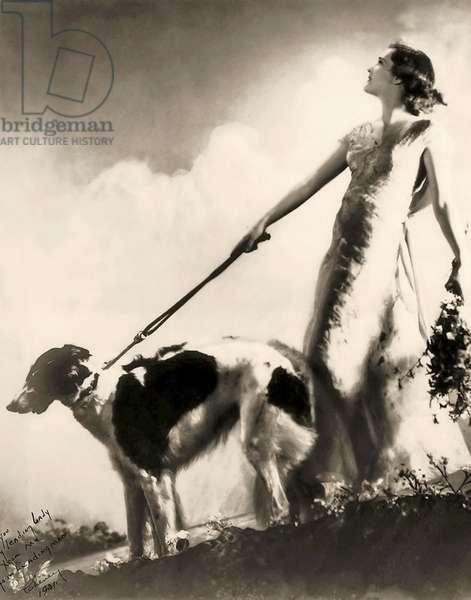 The Ziegfeld Follies performer Margaret Horan .1925 (b/w photo)