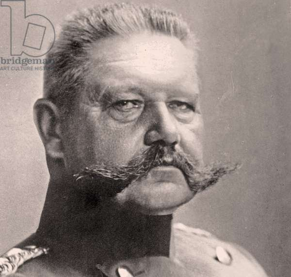 Portrait of Paul von Hindenburg  (b/w photo)