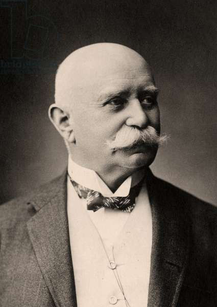 Portrait of Doctor Ferdinand, Graf von Zeppelin (1838-1917) (sepia photo)