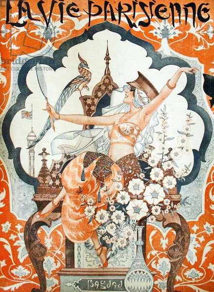 """Illustration from """"La Vie Parisienne"""", 1920 (colour Litho)."""
