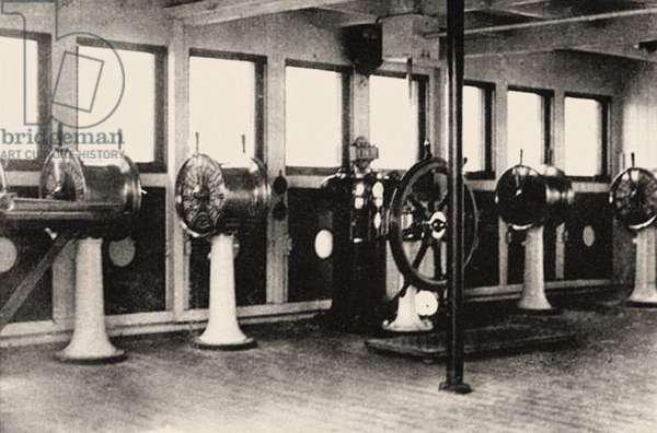 Bridge of the Titanic, c.1912 (photo)