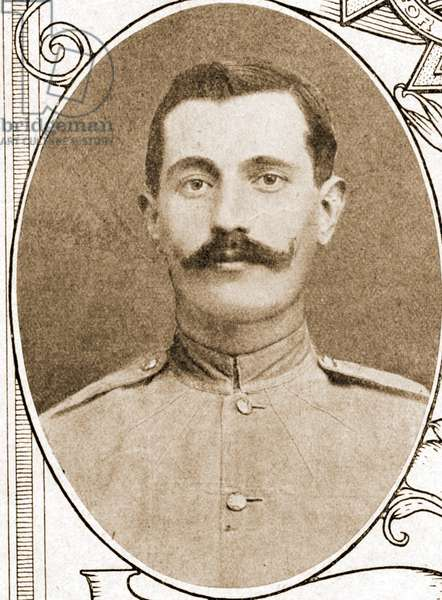 Portrait Charles Alfred Jarvis VC (1881 – 1948) 1915, (sepia photo)