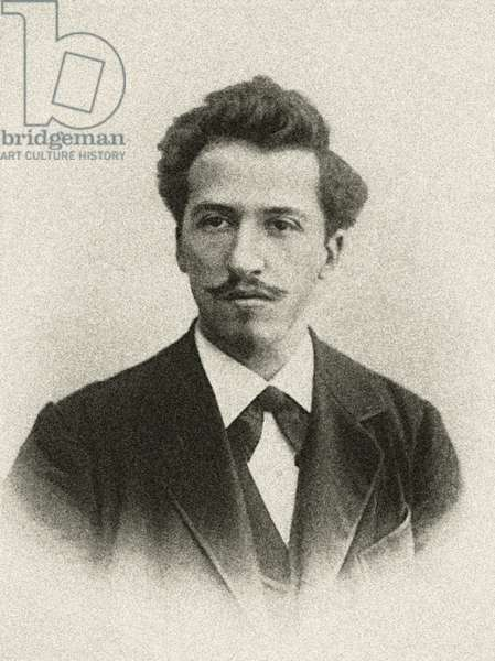 portrait of Piet Mondrian, Paris 1899 (b/w photo)