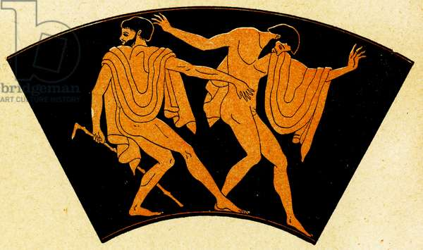 Drunken revellers, Illustration from Notor's Lysistrata,  1898 (litho)