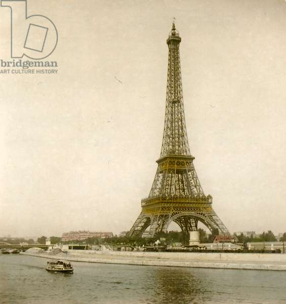 View of the Eiffel Tower from the Bir Hakeim Bridge, Paris, France, c.1894 (photo)