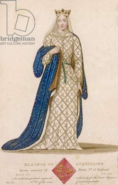 Portrait of Eleanor of Aquitaine, 1838 (engraving)