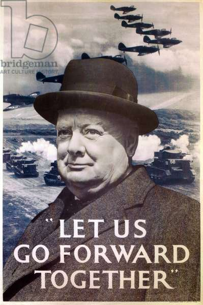 'Let Us Go Forward Together', World War Two propaganda poster, 1940 (print)