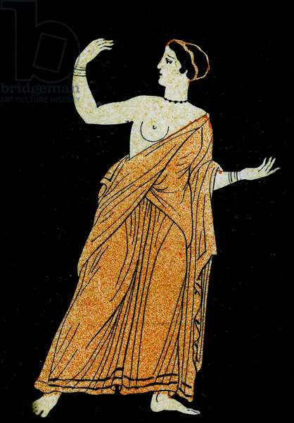 Theagene's wife, Illustration from Notor's Lysistrata,  1898 (litho)
