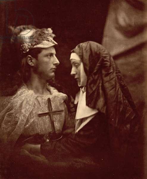Sir Galahad and the pale Nun, 1879 (photo)