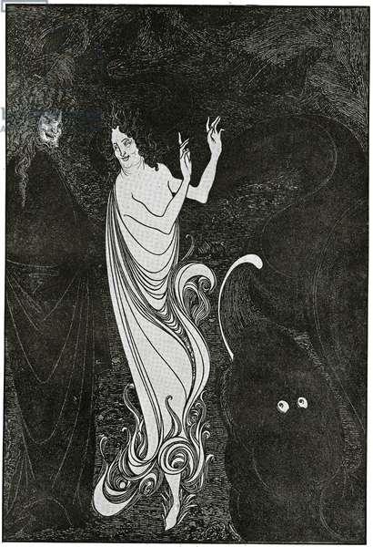 Fourth Tableau of Das Rheingold, illustration from 'The Savoy', 1896 (litho)